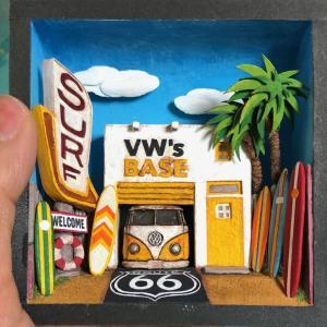 情景箱 「VW's BASE  SURF」 :川田崇司 塗装済完成品 ノンスケール|sakatsu