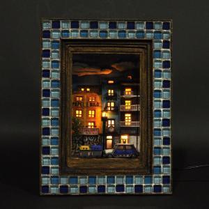 情景額 「バレンシアの夜も更けて」 :川田崇司 塗装済完成品 1/72 sakatsu