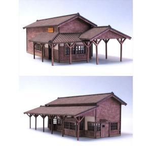 駅舎・弐 :和巧 未塗装キット N(1/150) N-4 sakatsu