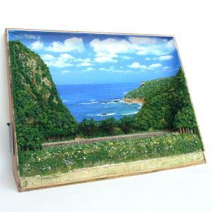 B4ジオラマ額 「夏の海原を背景に」 :スギモック 塗装済完成品 N(1/150) 0810|sakatsu