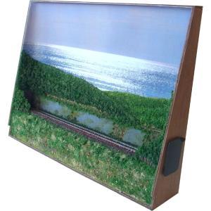 B4ジオラマ額 「光る海を背景に」 :スギモック 塗装済完成品 N(1/150) 1430 sakatsu