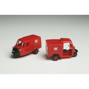 ミゼット DKAとMP5の2台セット 郵便車 :タイム 塗装済完成品 HO(1/80) 1010|sakatsu