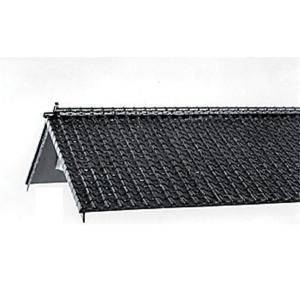 日本瓦セット(平瓦2枚、棟瓦2本、鬼瓦8個) :エコーモデル 未塗装キット HO(1/80) 201|sakatsu
