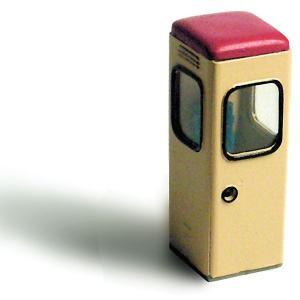 電話ボックス :エコーモデル 未塗装キット HO(1/80) 351|sakatsu