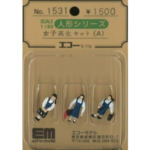 女子高生セット(A) :エコーモデル 塗装済完成品 HO(1/80) 1531|sakatsu