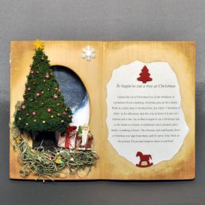 ブック型見開き作品「クリスマス」 :佐藤千寿子 Sugarhouse 塗装済完成品 ノンスケール|sakatsu