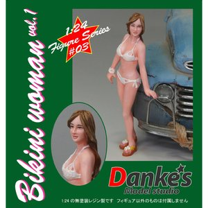 Bikini woman(ビキニウーマン)#1 :ダンケズモデルスタジオ 未塗装キット 1/24 FI24-003|sakatsu