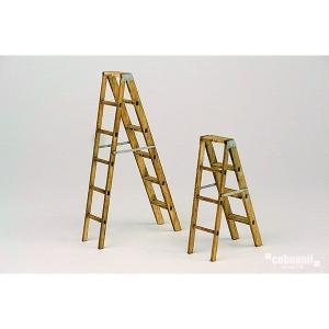 ラダーステップ(はしご、木製脚立) :コバーニ 未塗装キット 1/24 SS-033|sakatsu