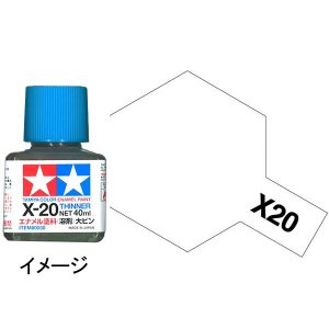 タミヤカラー エナメル X-20 溶剤大びん(40ml) :タミヤ 溶剤 ノンスケール 80030|sakatsu
