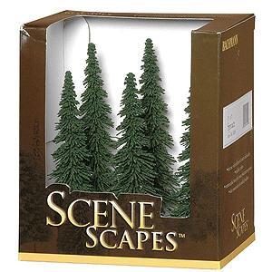 針葉樹(トウヒの木 Spruce) 12.7〜15.2cm 6本入り :バックマン 完成品 ノンスケール 32004|sakatsu