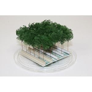 ミニチュア樹木模型 枝葉 ワイヤータイプ30本入り :ビーズ・デザイン 素材 ノンスケール MJP001