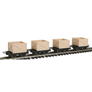 9ミリナロー トラッシュ貨車4輌セット HOn2 1/2 :ミニトレインズ 完成品 5104|sakatsu