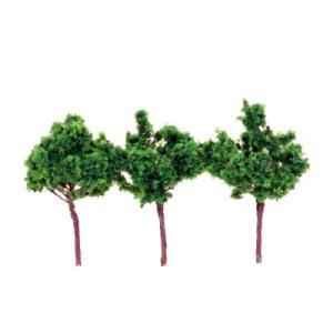 広葉樹 深緑色 70mm 3本入り :ポポプロ 完成品 ノンスケール MT-015 sakatsu