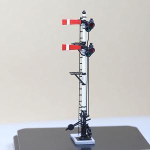 1/80 <点灯・可動式> 腕木信号機 「出発信号機 」主/副本線二段 :工房ナナロクニ 塗装済完成品 1/80(HO) 1076 sakatsu