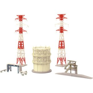情景小物100 ガスコンビナート拡張セット :トミーテック 塗装済みキット N(1/150) 244868 sakatsu