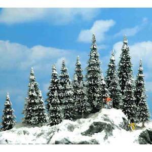 雪を被ったモミの木 30〜60mm  20本入り :ブッシュ 完成品 6566|sakatsu