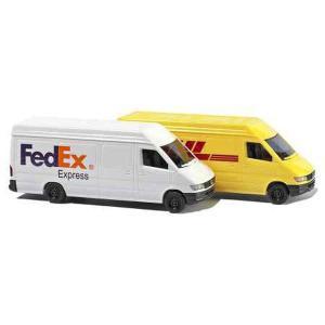 メルセデス ベンツ スプリンター(商用車) FedEx DHL 2台セット :ブッシュ 塗装済完成品 N(1/160) 8304|sakatsu
