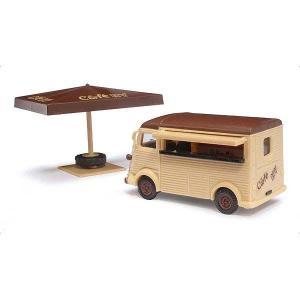 シトロエン Hバン 移動販売車 カフェ :ブッシュ 塗装済完成品 HO(1/87) 41903|sakatsu