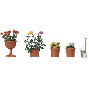 植木鉢の花 :ブッシュ 完成品 HO(1/87) 1230|sakatsu
