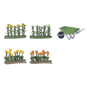 花壇のチューリップとデイジー :ブッシュ 完成品 HO(1/87) 1231|sakatsu