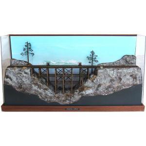 ティンバートレッスル(木造橋) 16.5mmゲージ :クレインヒルディスプレー 塗装済完成品 HO(1/87) sakatsu