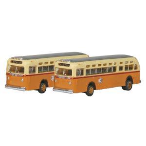 GMC TD 3610 トランジットバス ボストン 2台入り :ミニメタル 完成品 N(1/160) 52304|sakatsu