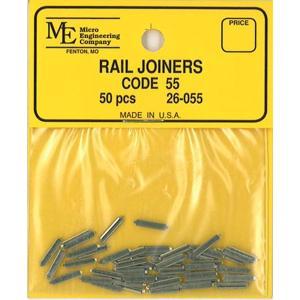 レールジョイナー コード55番用 50個入り :マイクロエンジニアリング 鉄道 素材 26-055|sakatsu