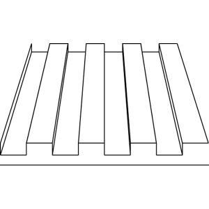 波板(デッキプレート) 1.0 x 1.0 x 150 x 300 mm :エバーグリーン プラ材 ノンスケール 4526|sakatsu