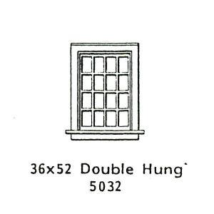 洋風窓 窓枠 ダブルハング :グラントライン 未塗装キット HO(1/87) 5032|sakatsu