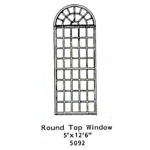 洋風窓 窓枠 丸窓付き :グラントライン 未塗装キット(部品) HO(1/87) 5092 sakatsu
