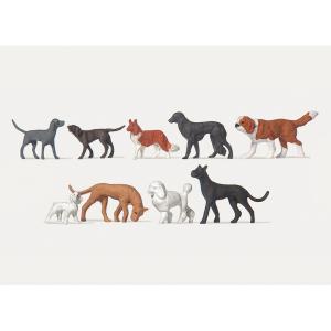 犬 9匹 :メルテン 塗装済完成品 HO(1/87) 2466 sakatsu