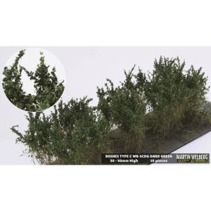 茂みC 株タイプ 全高40mm ダークグリーン 10株 :マルティン・ウエルベルク ノンスケール WB-SCDG|sakatsu