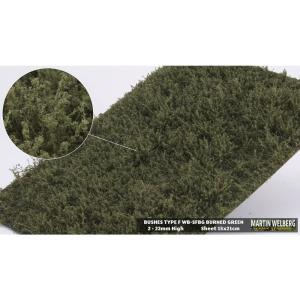 茂みF 草むらタイプ 全高15mm バーンドグリーン :マルティン・ウエルベルク ノンスケール WB-SFBG|sakatsu