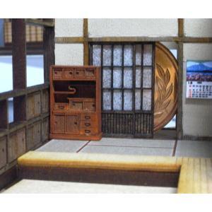 茶箪笥(ちゃだんす)キット :さかつう 未塗装キット HO(1/87) 1405|sakatsu|02