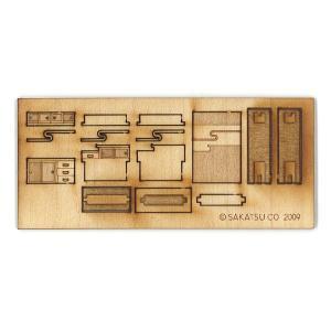 茶箪笥(ちゃだんす)キット :さかつう 未塗装キット HO(1/87) 1405|sakatsu|03