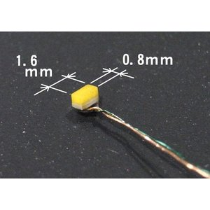 1.6x0.8mmチップLED 電球色 2個入り :さかつう 電子パーツ ノンスケール 2204|sakatsu