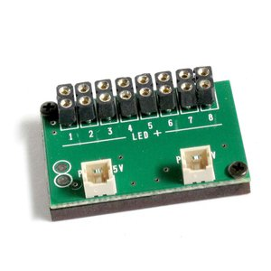 常時点灯 増設基板 (コネクタ付LEDライト用 8個取付け可能) :さかつう 素材 2571|sakatsu