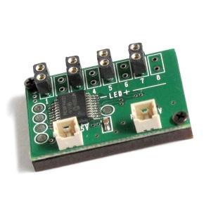 ゆらゆら点灯 増設基板 (コネクタ付LEDライト用 4個取付け可能) :さかつう 素材 2573|sakatsu