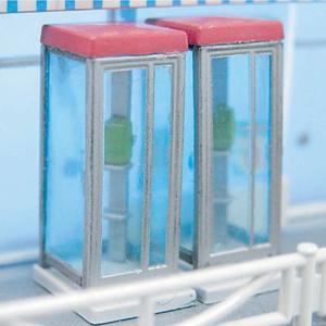 【模型】電話ボックス ブルー ※こばる同等品 :さかつう 未塗装キット N(1/150) 3740|sakatsu