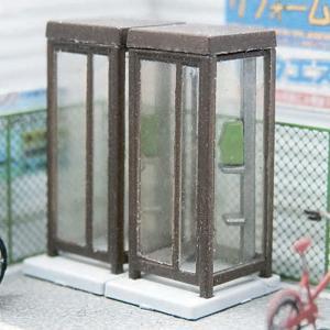 【模型】電話ボックス アンバー ※こばる同等品 :さかつう 未塗装キット N(1/150) 3741 sakatsu