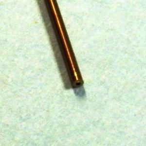 真鍮パイプ 外径0.5mm 内径0.3mm :さかつう 素材 ノンスケール 4628|sakatsu