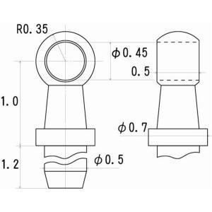 ハンドレールノブ 高さ1.0mm 0.4mm線用 6個入り :さかつう ディテールアップ ノンスケール 5001|sakatsu