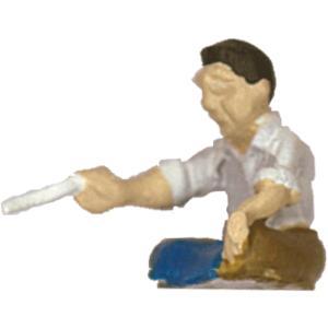 さかつう人形シリーズまなべコレクション 煎餅屋のおやじ :さかつう 塗装済完成品 HO(1/87) 7503|sakatsu