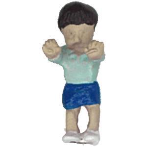 さかつう人形シリーズまなべコレクション ケン坊 :さかつう 塗装済完成品 HO(1/87) 7504|sakatsu