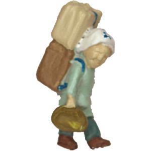 さかつう人形シリーズまなべコレクション 担ぎやのおばさんA :さかつう 塗装済完成品 HO(1/87) 7506|sakatsu