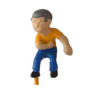 さかつう人形シリーズまなべコレクション ベーゴマ少年B :さかつう 塗装済完成品 HO(1/87) 7513|sakatsu