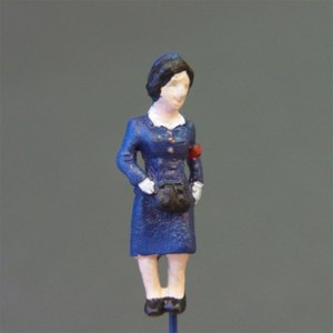 さかつう人形シリーズまなべコレクション バスの車掌さん :さかつう 塗装済完成品 HO(1/87) 7520|sakatsu