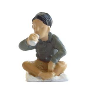 さかつう人形シリーズまなべコレクション 晩酌中(座布団つき) :さかつう 塗装済完成品 HO(1/87) 7522|sakatsu