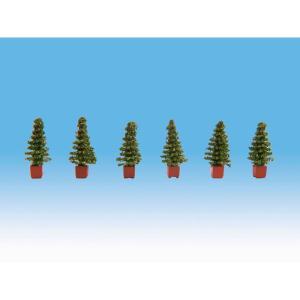 植木(針葉樹) 6本 :ノッホ 塗装済完成品 HO(1/87) 14021|sakatsu