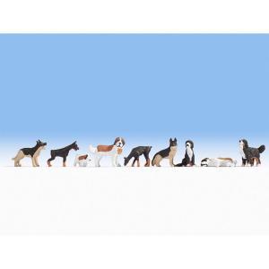 犬 9匹 :ノッホ 塗装済完成品 HO(1/87) 15717|sakatsu
